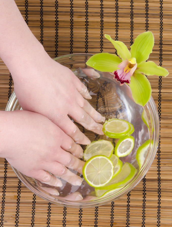 Wellness for hands stock photography