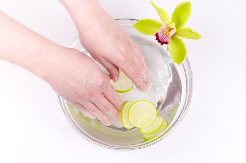 Wellness for hands royalty free stock images