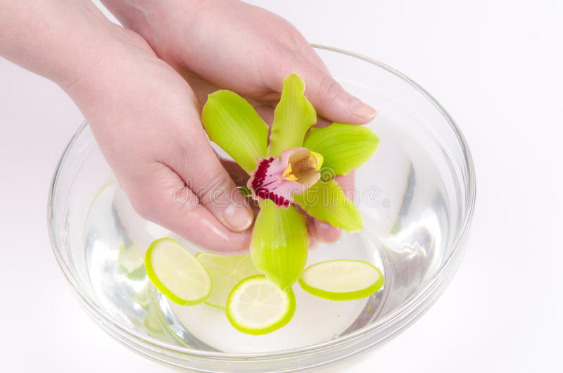 Wellness for hands royalty free stock photos
