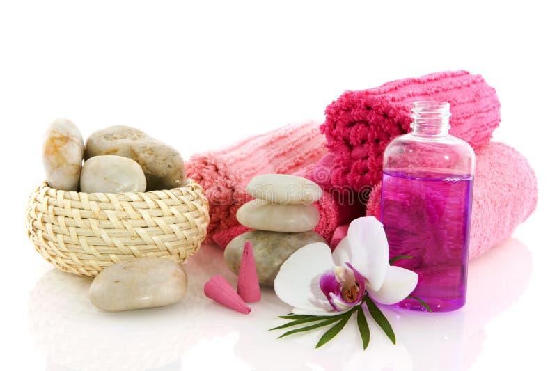 Wellness im Rosa lizenzfreie stockfotografie