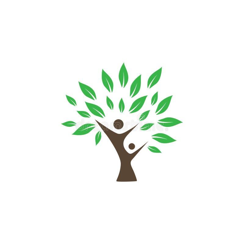 Wellness loga ikony projekta szablonu drzewny wektor royalty ilustracja