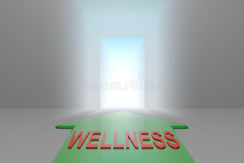 Wellness otwarta brama ilustracji