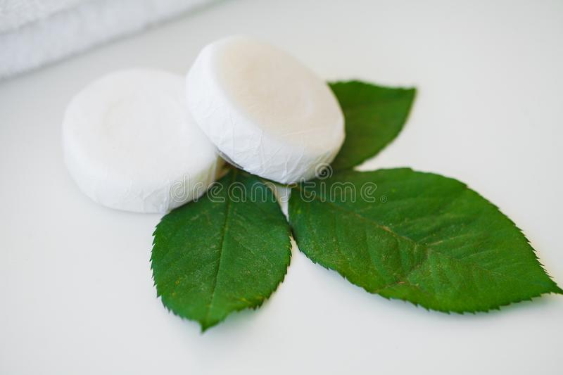 Wellness Products and Cosmetics. Bath-day Ingredients For Spa Tr. Eatments Soap on White Background stock photography
