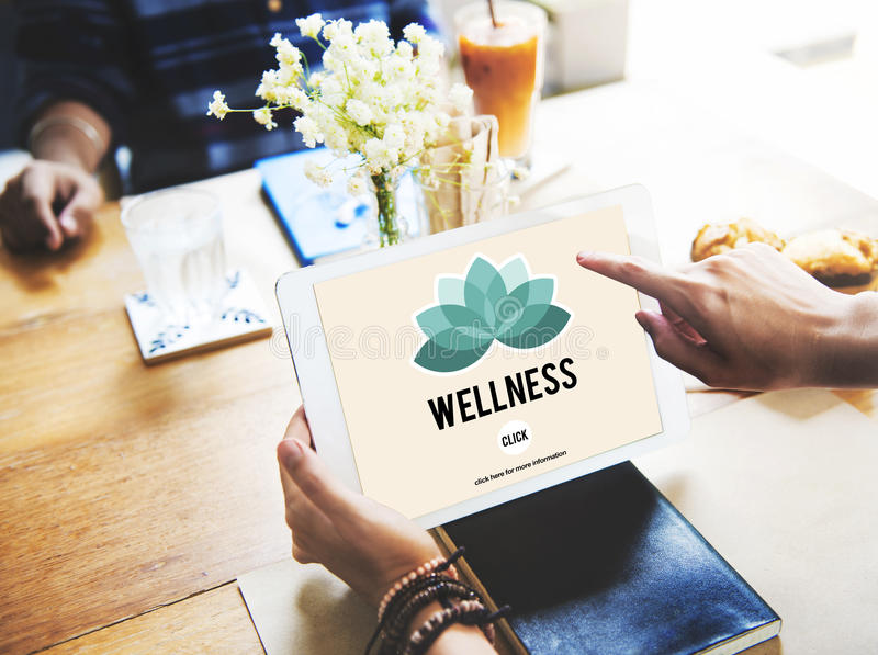 Wellness Relax Wellbeing Nature Balance Exercise Concept.  royalty free stock images