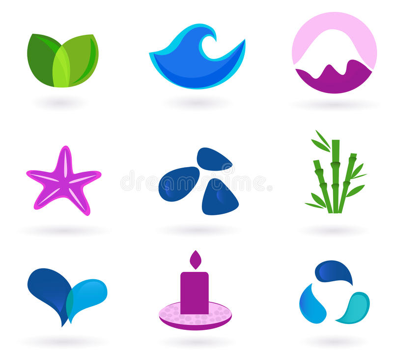 Wellness, Relaxation And Medical Icons Royalty Free Stock Photography