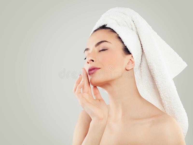 Wellness and Spa Beauty. Female Model Relaxing royalty free stock image
