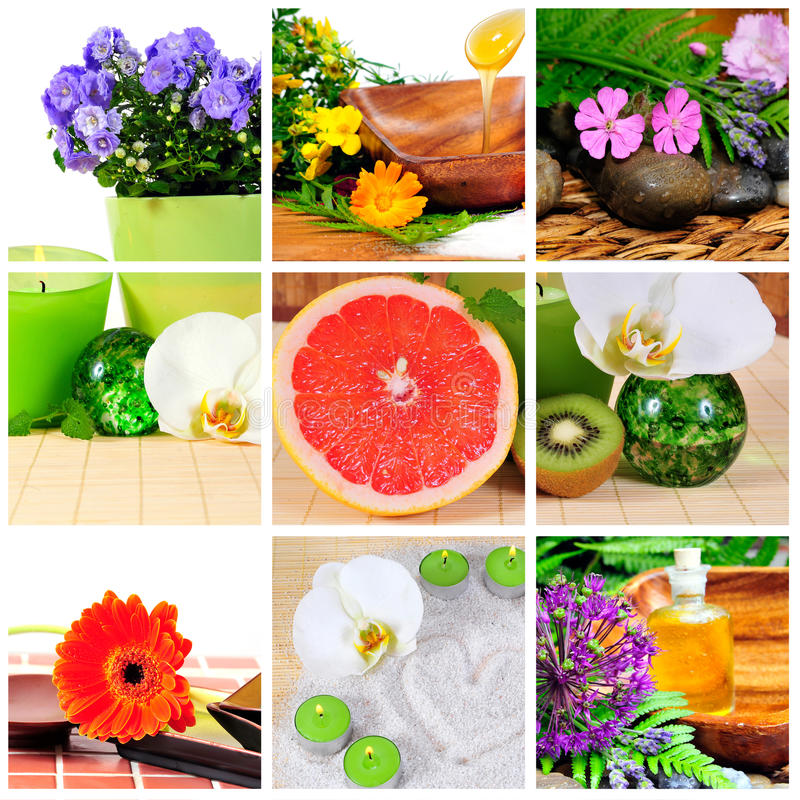 Wellness spa collage stock afbeelding