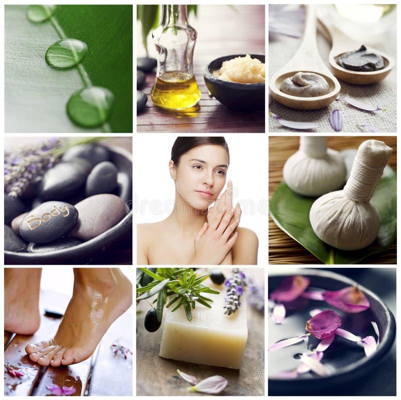Wellness spa collage royalty-vrije stock afbeelding