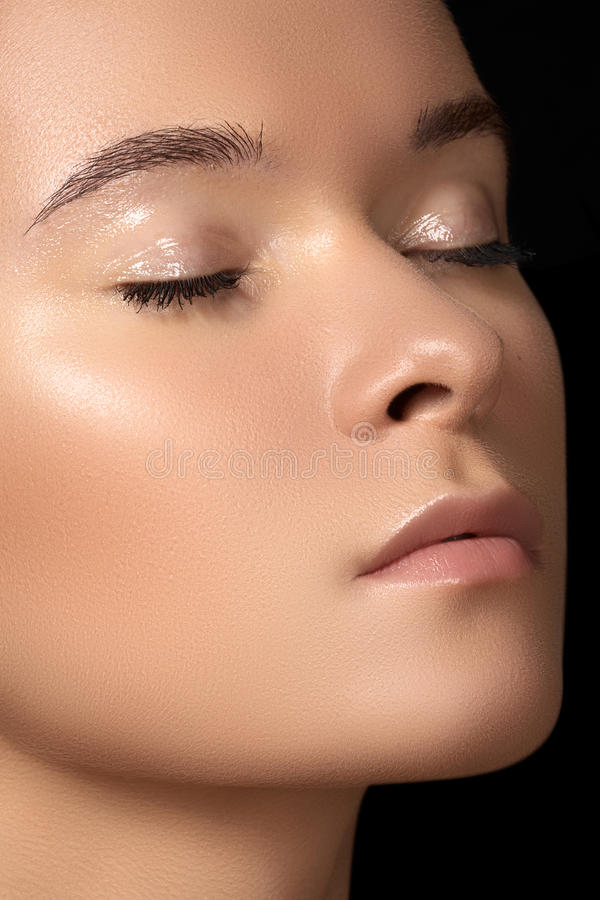 Download Wellness, Spa & Health. Model Face With Clean Skin Stock Photo - Image of fashion, eyelids: 25800288