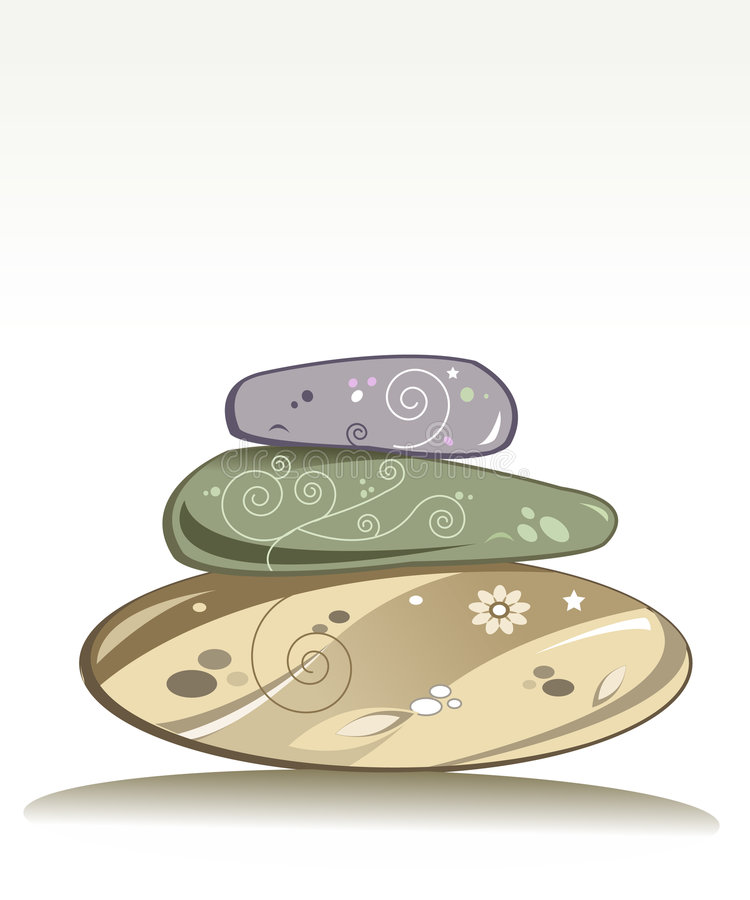 Wellness stones stock illustration