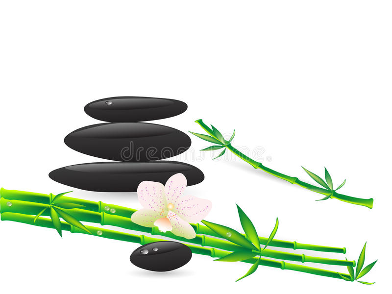 Wellness stones vector illustration