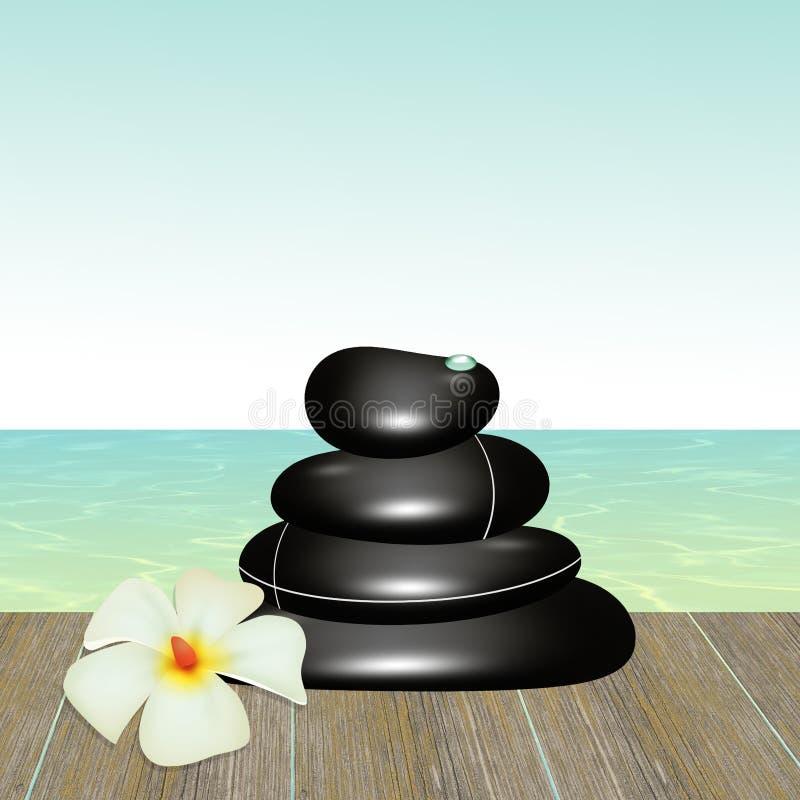 Wellness stones royalty free illustration