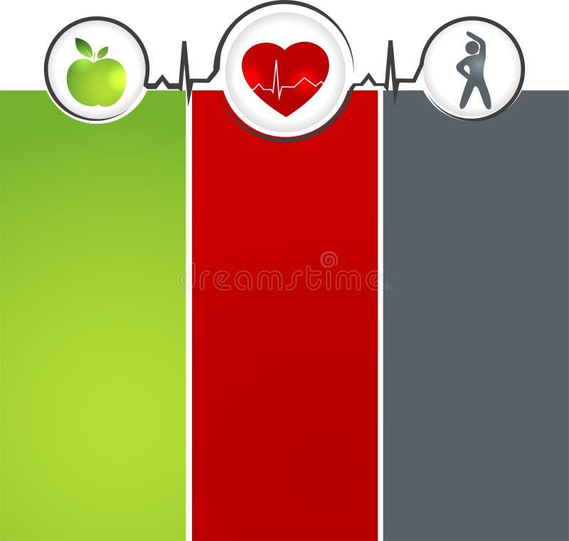 Wellness template vector illustration