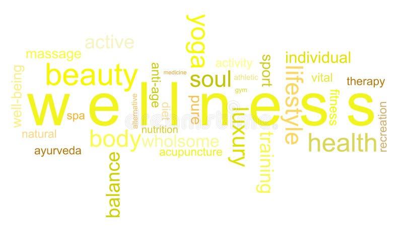 Wellness van de illustratie stock afbeeldingen