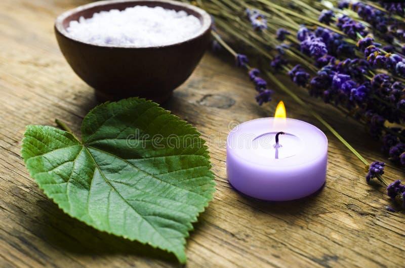 Wellness van de lavendel stock afbeeldingen
