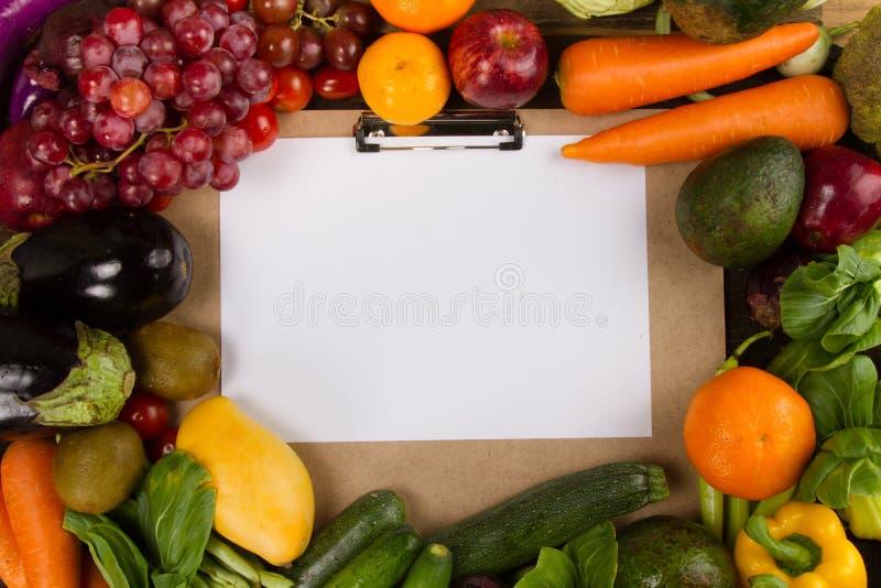 Wellness van Dieetprogramma met het gezonde eten royalty-vrije stock foto's