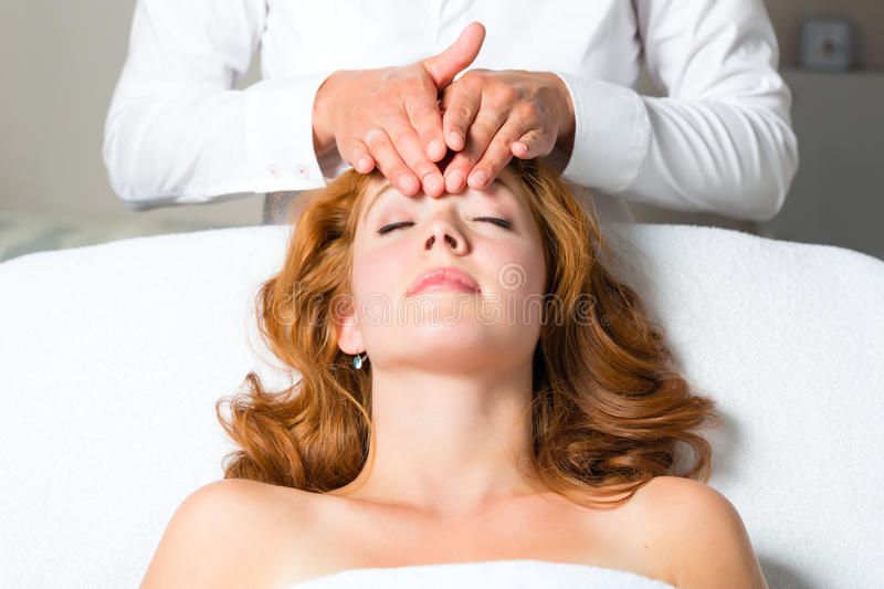 Download Wellness - Woman Getting Head Massage In Spa Stock Photo - Image: 28366400