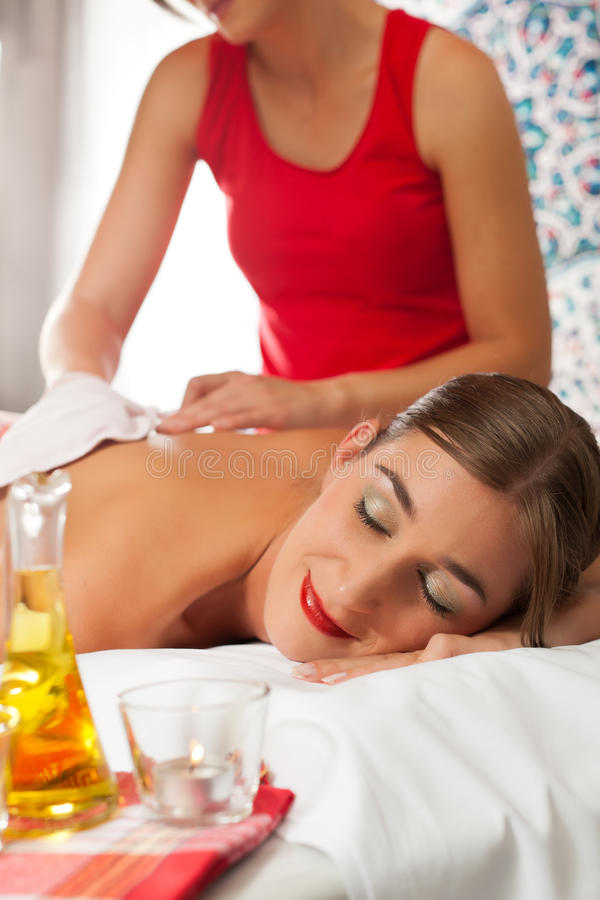 Download Wellness - Woman Getting Massage In Spa Stock Photo - Image: 22771606