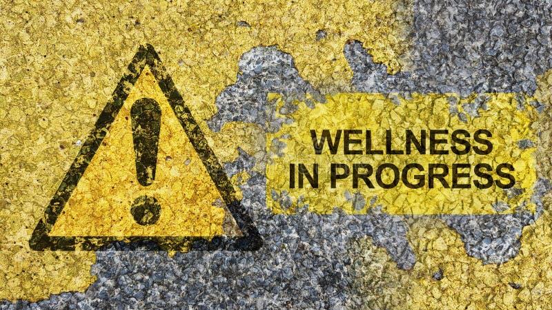 Wellness wordt uitgevoerd concept royalty-vrije stock fotografie
