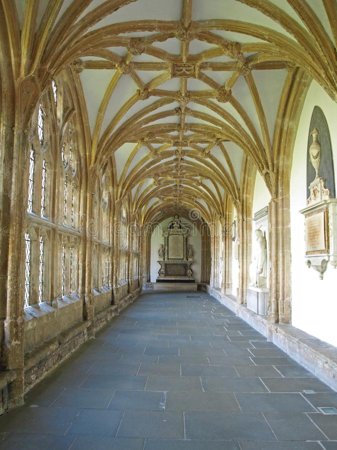 Wells cathedral cloisters. Wells Somerset Englan stock photography