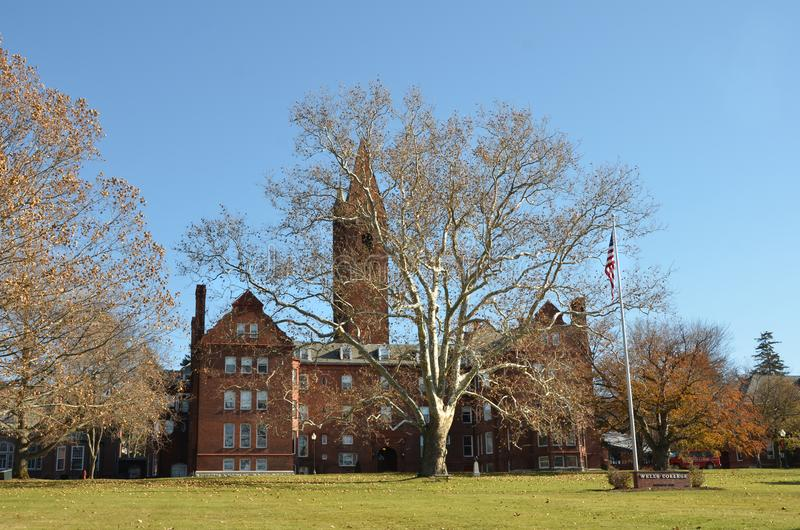 Wells-College gelegen in Aurora New York stockbild