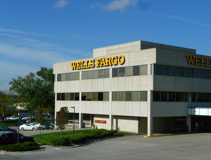 Wells Fargo, Омаха, Небраска стоковая фотография rf