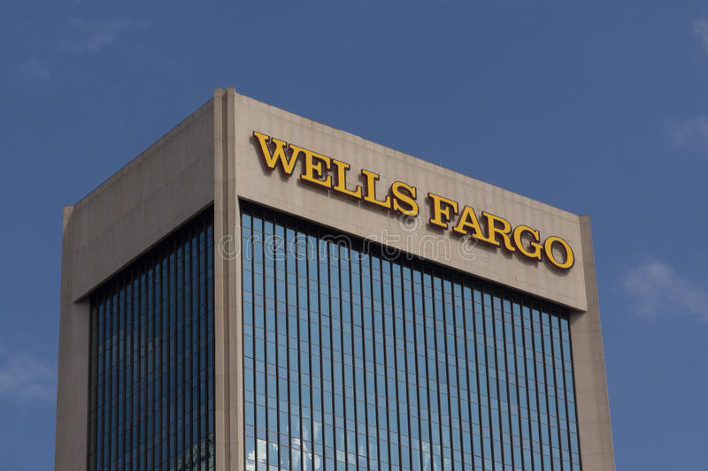 Wells Fargo Bank fotografia de stock