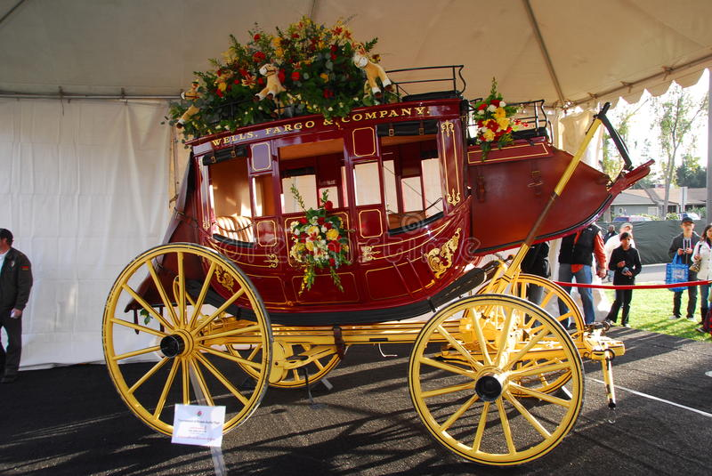 Download Wells Fargo Bank Horse Carriage Float At The 122nd Editorial Photo - Image: 17731186