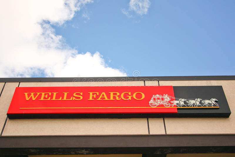 Download Wells Fargo Bank Sign And Building Editorial Stock Photo - Image: 21443883