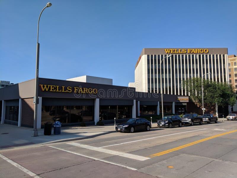 Wells Fargo Bank. Complex in downtown Sioux Falls, South Dakota stock photo