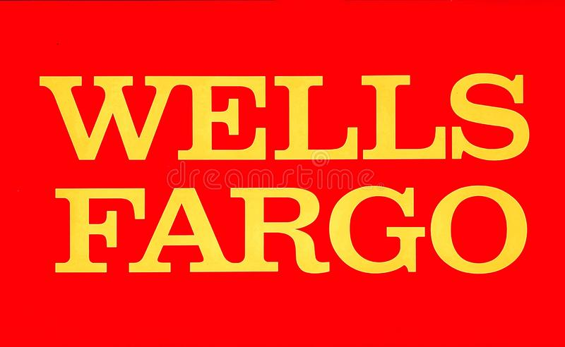 WELLS FARGO BANK in North Miami, FL, USA. Wells Fargo & Company is an American multinational financial services company headquartered in San Francisco royalty free stock photography