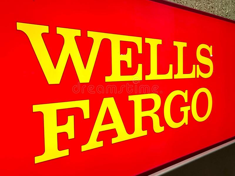WELLS FARGO BANK in North Miami, FL, USA. Wells Fargo & Company is an American multinational financial services company headquartered in San Francisco stock images