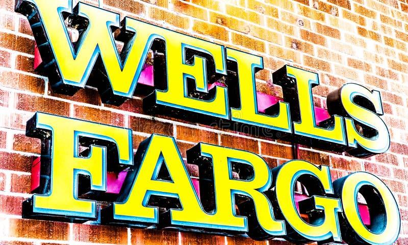 Wells Fargo Distorted Logo image libre de droits