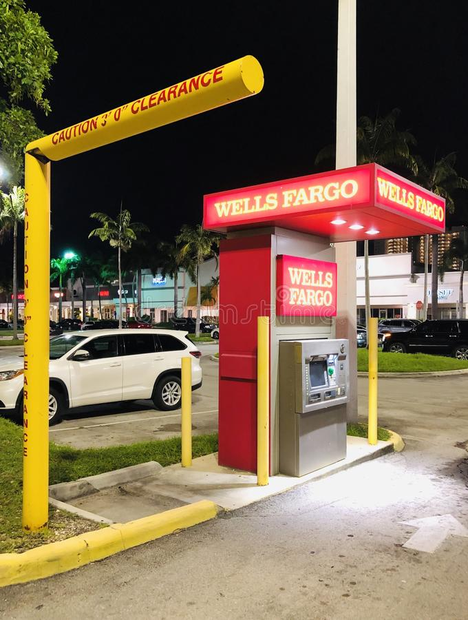 WELLS FARGO DRIVE-UP ATM. Wells Fargo & Company is an American multinational financial services company headquartered in San Francisco, California, with central stock photo