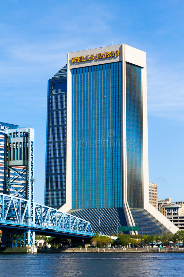 Wells Fargo, Jacksonville, Florida fotos de stock royalty free
