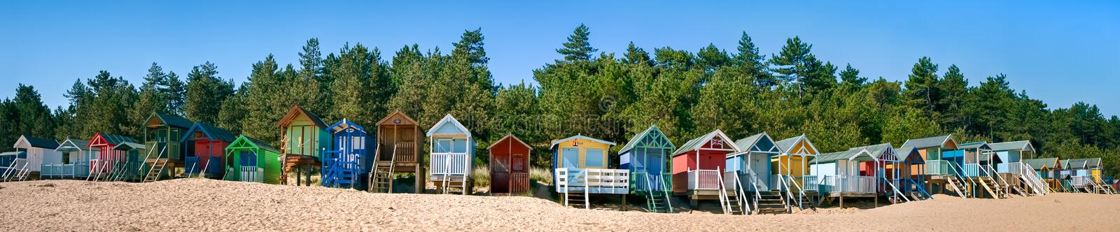 WELLS NEXT THE SEA, NORFOLK/UK - JUNE 3 : Some brightly coloured royalty free stock photos