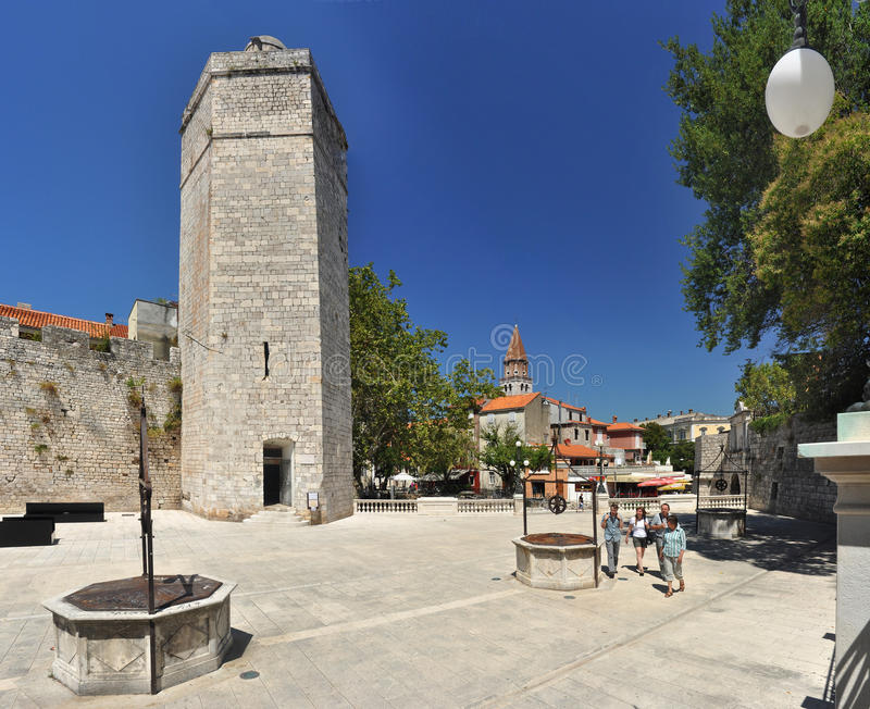 Download Wells in Zadar editorial stock image. Image of fountain - 17955034