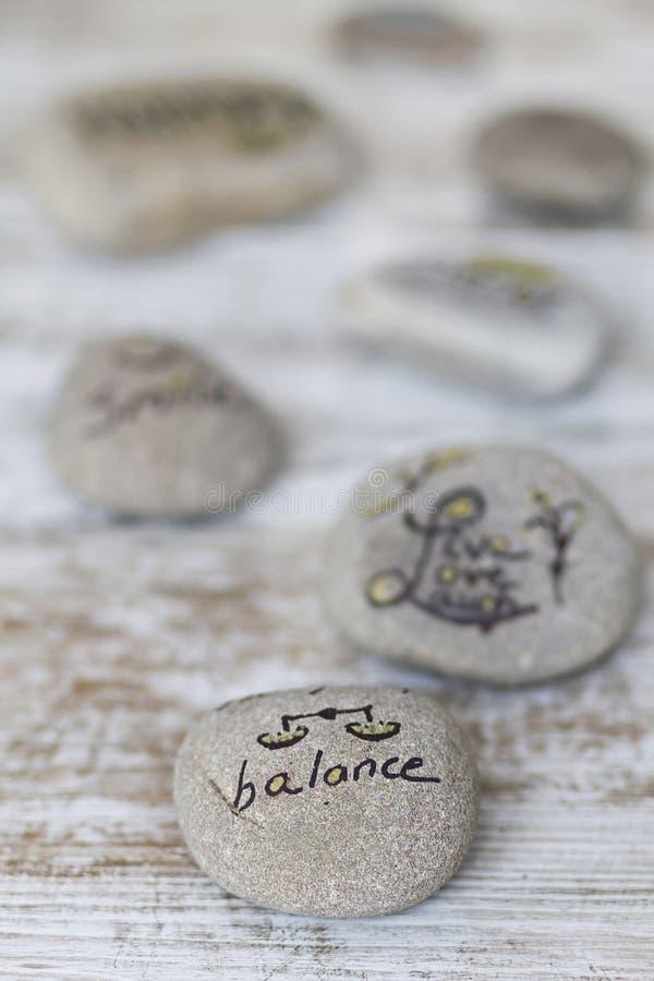 Welness concepts on stones stock photos