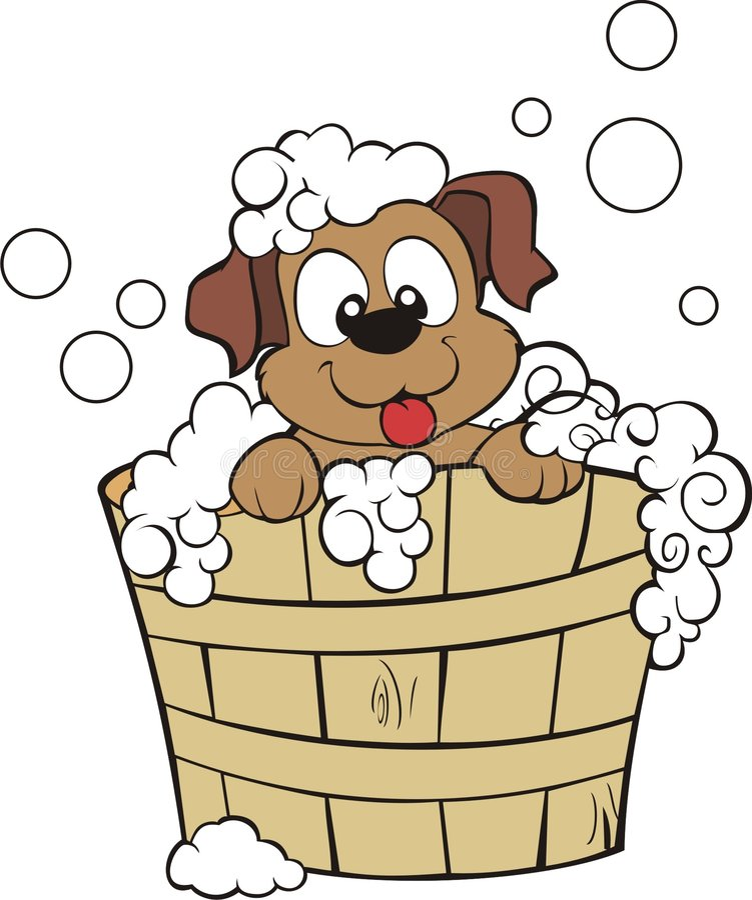 Welpen-Dusche lizenzfreie abbildung