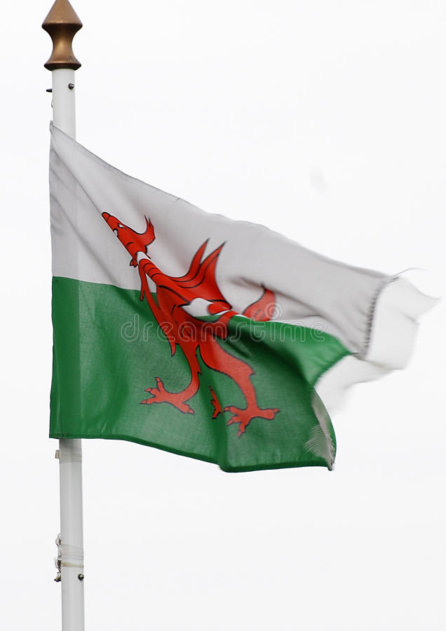 Welse vlag royalty-vrije stock afbeelding