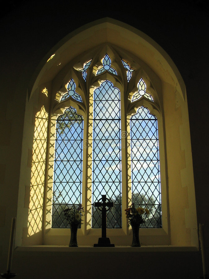 Free Welsh Chapel Window Stock Photography - 252182