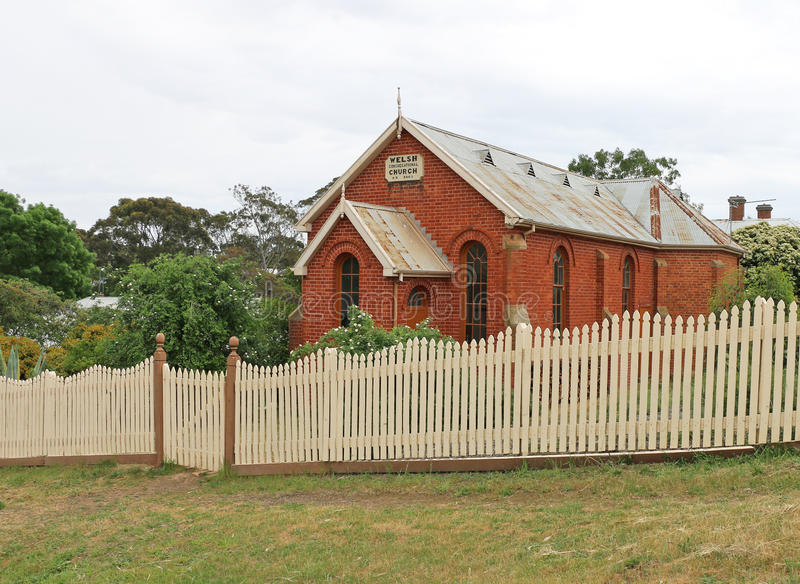 The Welsh Congregational Church (1863) built for the Welsh Independent Church conducted services in Welsh until 1893. MALDON, VICTORIA, AUSTRALIA - October 16 royalty free stock photo