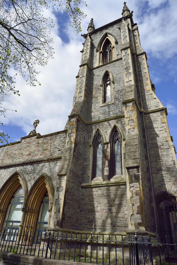 Welsh Congregational Church. Or St James Presbyterian Church, St James Park, Broadmead, Bristol royalty free stock images