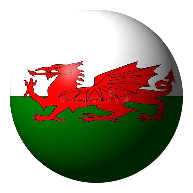 Download Welsh flag sphere stock illustration. Illustration of circular - 12836371