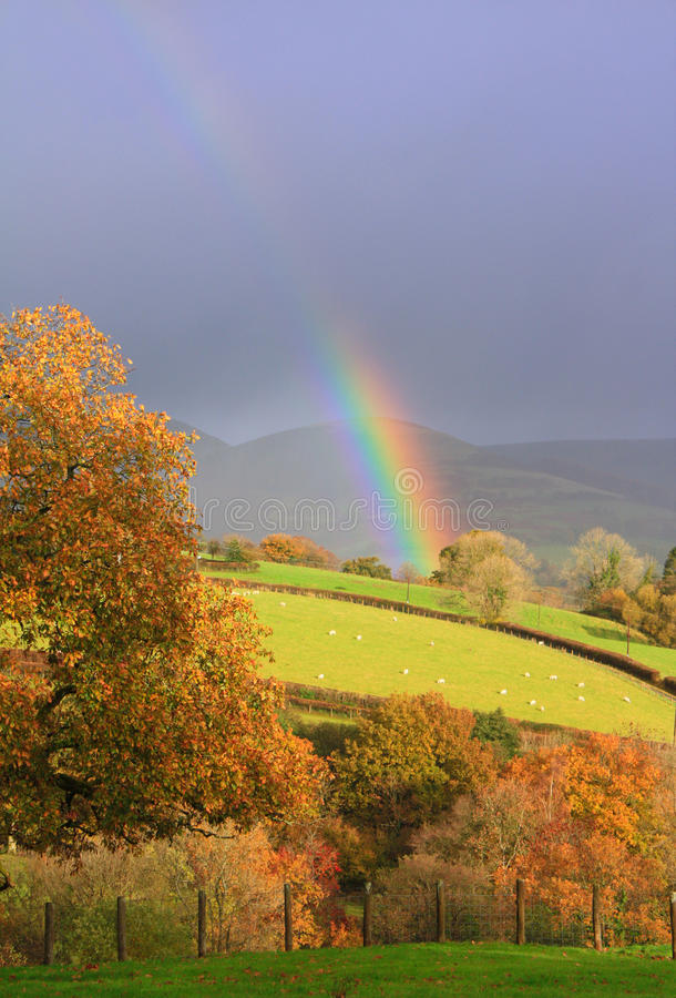 Free Welsh Rainbow Royalty Free Stock Photography - 12042037