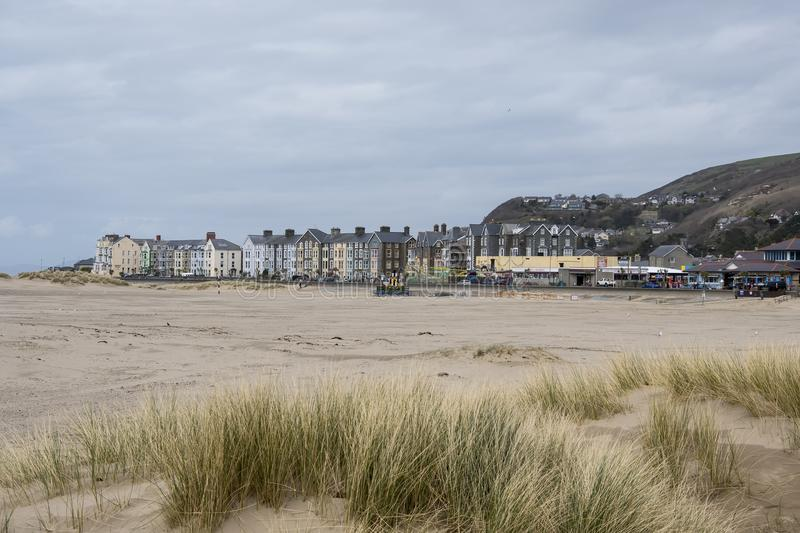 Welsh Seaside Town royalty free stock photos