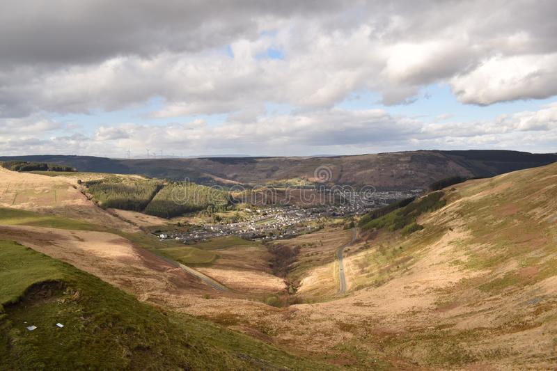 The Welsh valley stock image