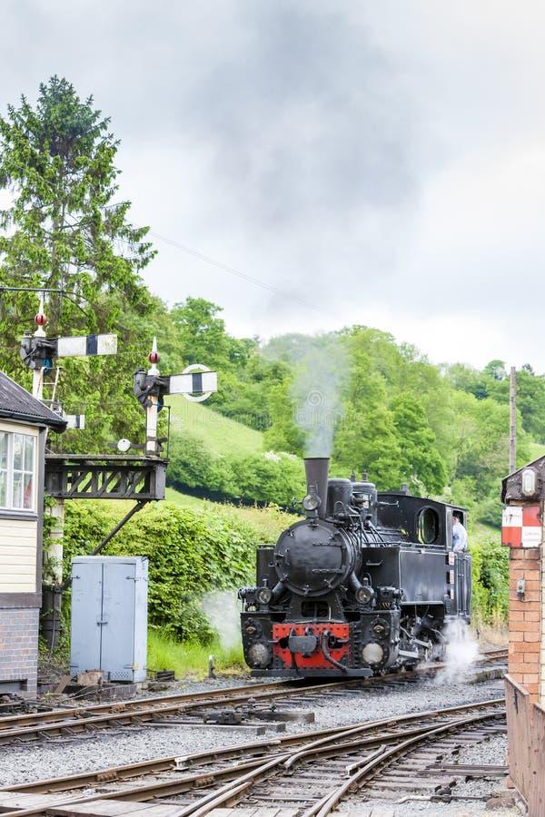 Welshpool i Llanfair Light Railway, Walia fotografia royalty free