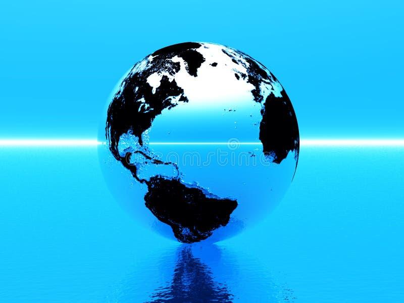 Welt 3d lizenzfreie abbildung