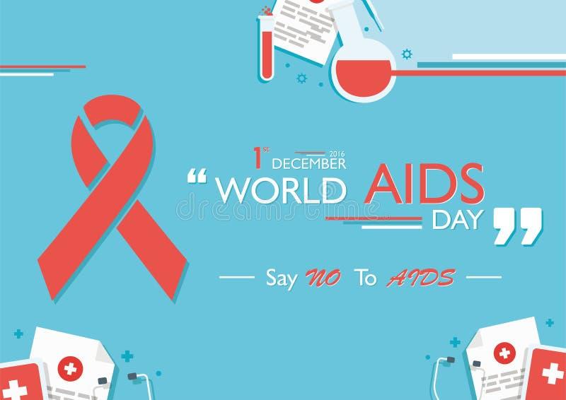 Welt-Aids-Tag lizenzfreies stockbild